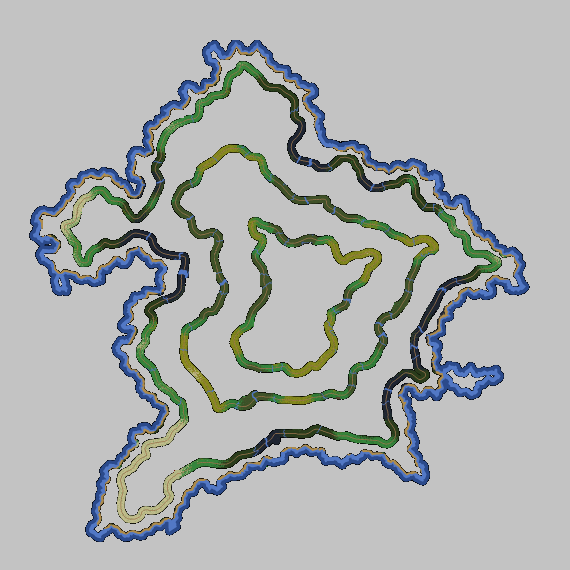 Build 123, World 11 Map with three road outlines